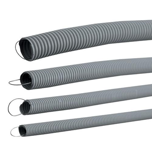 Труба гофрированная ПВХ 16мм с протяжкой строительная (100м)