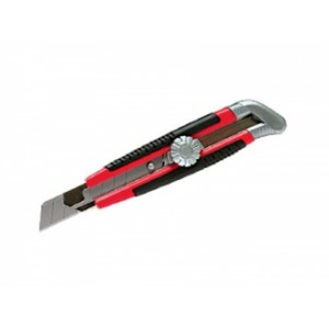 MATRIX 78914 Нож, 18 мм, выдвижное лезвие, металлическая направляющая, винтовой фиксатор лезвия : фото из каталога stroymat.msk.ru