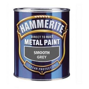 ХАММЕРАЙТ Краска по ржавчине серый гладкий (2,5л) : фото из каталога stroymat.msk.ru