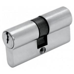 ШЛОСС 03007 Цилиндр DIN ключ/ключ (30+30) S 60 Cr хром : фото из каталога stroymat.msk.ru