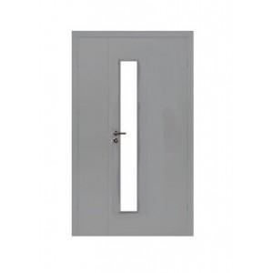ОЛОВИ Дверное полотно полуторное с четвертью гладкое крашеное со стеклом L3 : фото из каталога stroymat.msk.ru