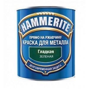 ХАММЕРАЙТ Краска по ржавчине зеленый гладкий (2,5л) : фото из каталога stroymat.msk.ru