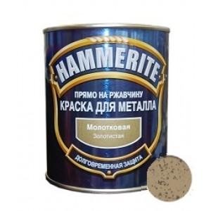 ХАММЕРАЙТ Краска по ржавчине золотой молотковый (2,5л) : фото из каталога stroymat.msk.ru