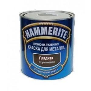 ХАММЕРАЙТ Краска по ржавчине коричневый гладкий (2,5л) : фото из каталога stroymat.msk.ru