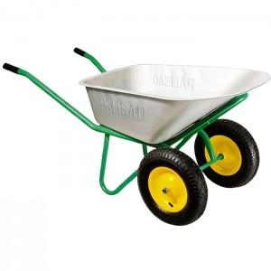 Тачка садовая, два колеса, грузоподъемность 170 кг, объем 78 л// PALISAD : фото из каталога stroymat.msk.ru