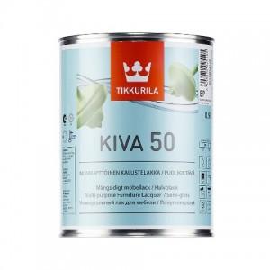 ТИККУРИЛА Кива 50 ЕР (KIVA) В/Д лак для мебели п/гл. (2,7л) : фото из каталога stroymat.msk.ru