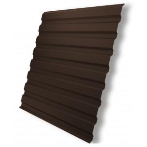 Профнастил С-20 (RAL 8017) коричневый шоколад 1150х2000х0,4мм (2,3м2) : фото из каталога stroymat.msk.ru