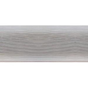 Т-ПЛАСТ 100 Плинтус Чайка с кабель-каналом и мягким краем дуб снежный (1х2,5м) (уп.=40шт) : фото из каталога stroymat.msk.ru
