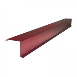 Планка карнизная для металлочерепицы (RAL 3005) красное вино (2м) : фото из каталога stroymat.msk.ru