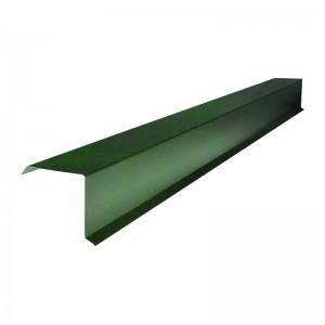 Планка карнизная для металлочерепицы (RAL 6005) зеленый мох (2м) : фото из каталога stroymat.msk.ru