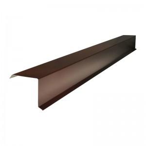 Планка карнизная для металлочерепицы (RAL 8017) коричневый шоколад (2м) : фото из каталога stroymat.msk.ru