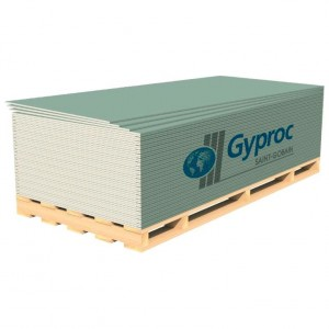 Gyproc Гипсокартон Аква Оптима 2700х1200х12,5мм влагостойкий : фото из каталога stroymat.msk.ru