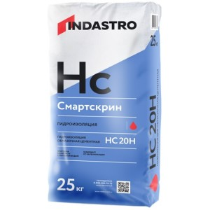 ИНДАСТРО Смартскрин HC20 H жесткая гидроизоляция (25кг) : фото из каталога stroymat.msk.ru